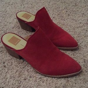 Dolce Vita Red Suede Clogs / Mules Size 8
